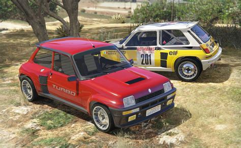 renault rally renault 5 turbo add on replace tuning livery