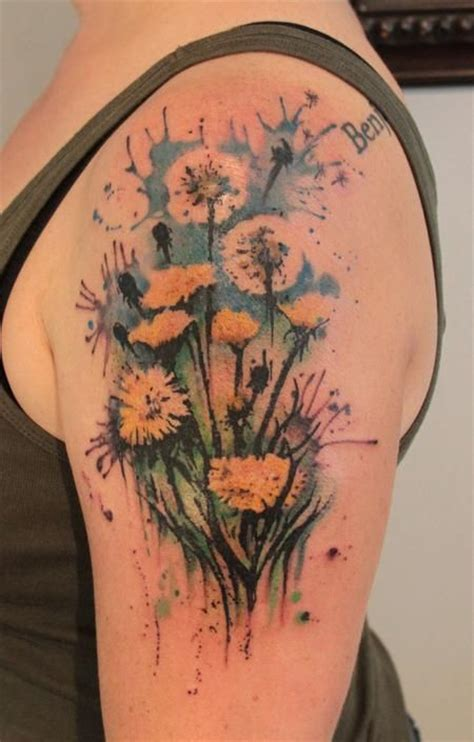 15 dandelion tattoo designs to be adored pretty designs