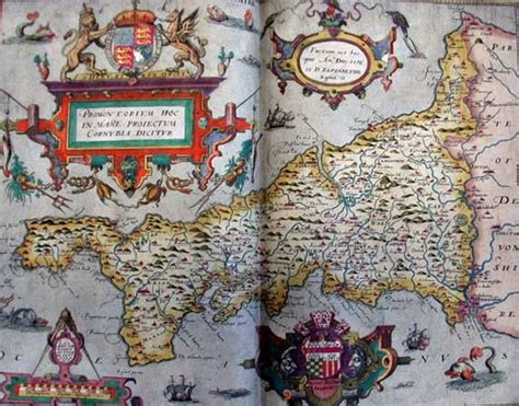 britains tudor maps county tudor map of cornwall 1579 christopher saxton the quot atlas of the counties of england and