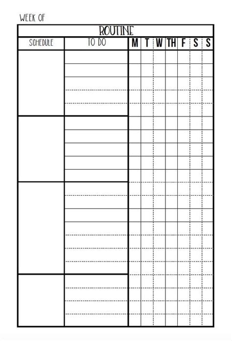 editable printable daily calendar editable routine checklist daily planner printable