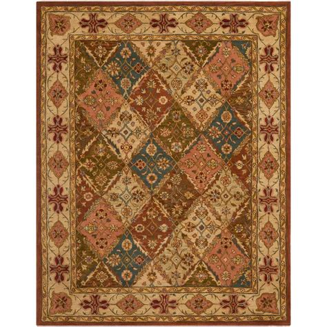 home depot wool area rugs safavieh heritage beige 9 ft x 12 ft area rug hg316a 912 the home depot