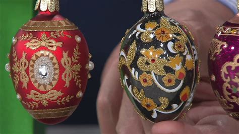 musical egg ornaments from qvc joan rivers 2017 set of 12 russian inspired mini egg ornaments on qvc