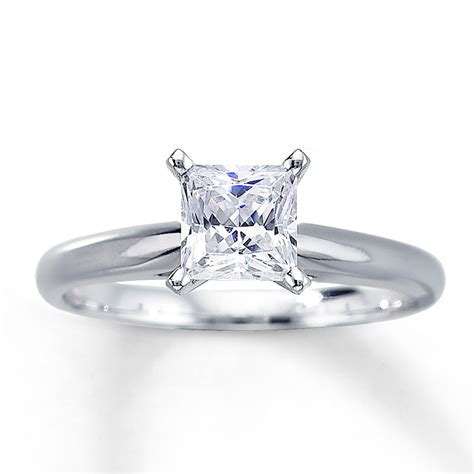 Princess Cut by 1 Carat Princess Cut Solitaire Engagement Rings Www