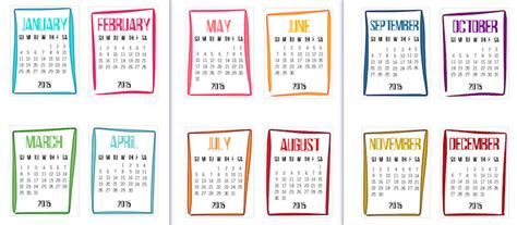 printable mini calendar december 2015 9 best images of mini printable 2016 calendars by month