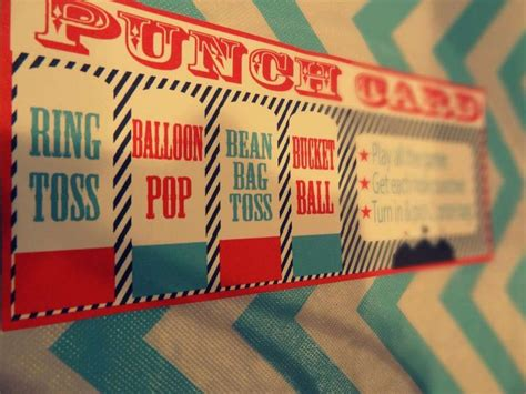 carnival punch card template 17 best images about pole on