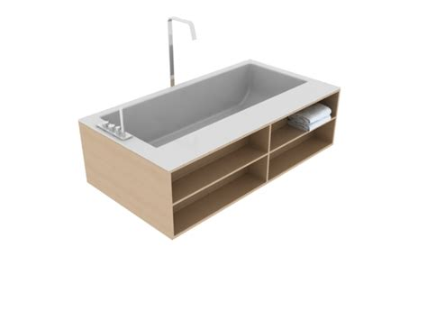 bathtub model free standing bathtub with wooden frame 3d model 3dsmax