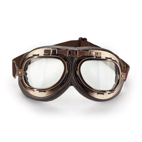 motocross helmet and goggles vintage steunk pilot helmet motorcycle goggles copper