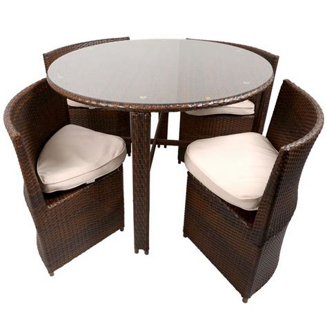 garden table and chairs set napoli rattan wicker dining garden furniture set with