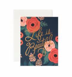 is beautiful greeting card by rifle paper co made