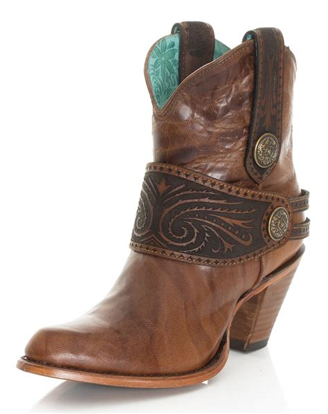corral womans boots corral s 7 quot engraved harness ankle boots