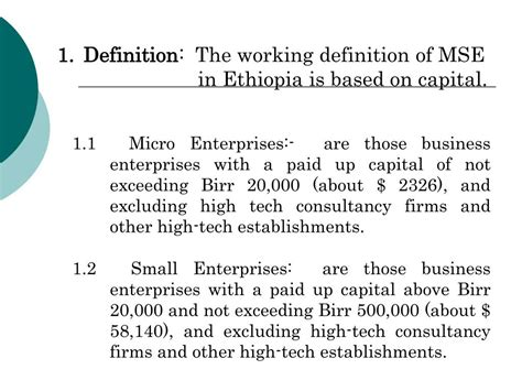 ppt micro and small enterprises development achievements in addis ababa powerpoint