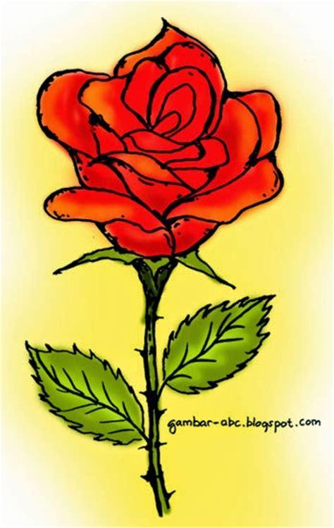 Renda Mawar S 2 bunga mawar contoh gambar mewarnai