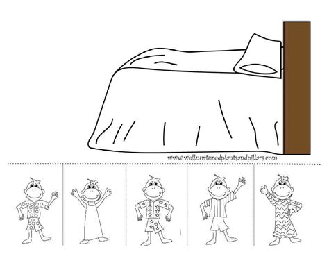 ten little monkeys coloring page free five little monkeys coloring pages
