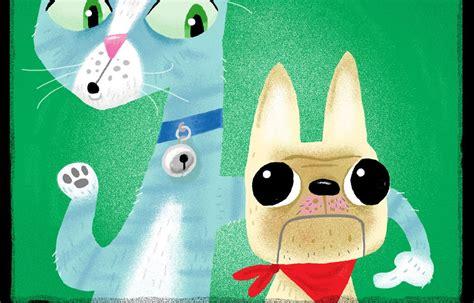 leer libro e un gato y un perro la luna naranja el perro y el gato