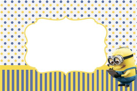 free minion template inspired in minions invitations free printables