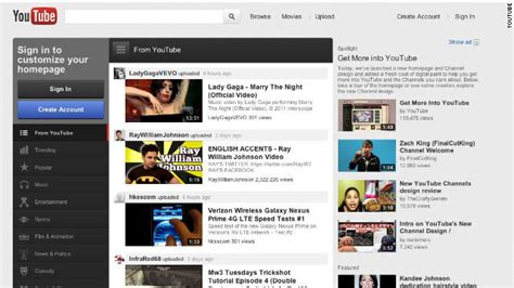 youtube site layout youtube gets its biggest makeover ever cnn com