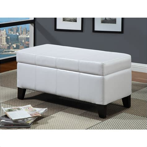 White Storage Bench Seat Modus Furnitureternational Seating Storage Bench