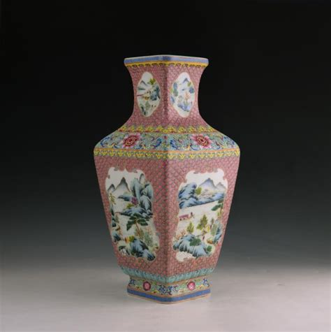 Old Chinese Vases Chinese Antique Famille Rose Square Vase