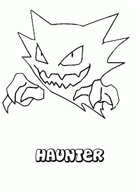 pokemon coloring pages of gastly ghost pokemon coloring pages haunter az coloring pages