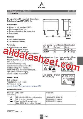 datasheet capacitor epcos b81130 b1223 datasheet pdf epcos