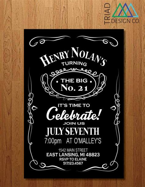 free 21st birthday invitations templates printable invitation 21st birthday bachelor by