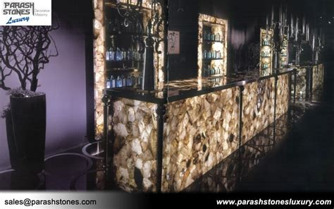 quartz bar top semi precious stone slab furniture wholesale price
