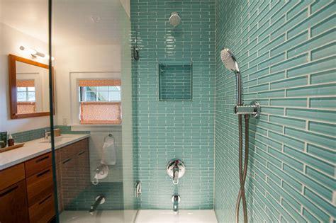 glass tile bathroom designs photos hgtv