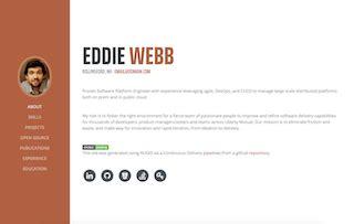 hugo themes exles github eddiewebb hugo resume a hugo theme ported from