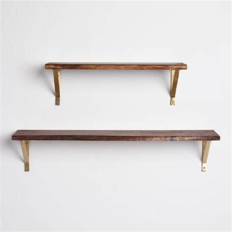 3 ft organic edge wood mix match wall shelf world market