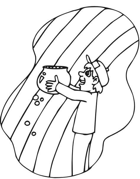 Rainbow Pot Of Gold Coloring Page Az Coloring Pages Gold Coloring Pages