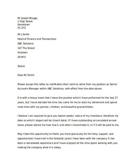 gallery of standard resignation letter