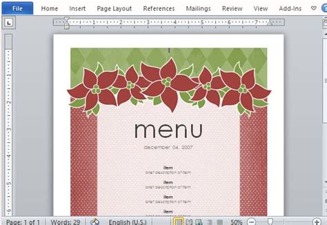 menu maker template best menu maker templates for word powerpoint presentation