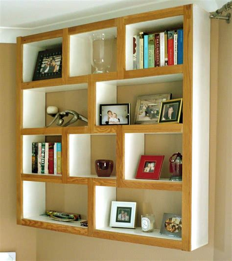 wall bookshelves interior modern geometric square wall mounted shelves for