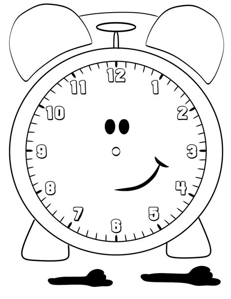 printable clock preschool printable clock for children activity shelter