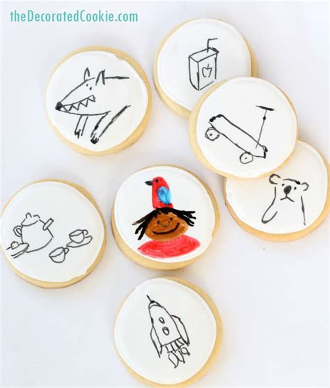 cookie doodle doodle cookies for the with a parrot on