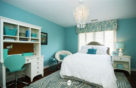 aqua themed bedroom ocean inspired aqua girls bedroom transitional