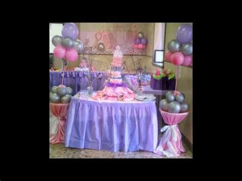 BABY SHOWER PINK AND PURPLE THEME   YouTube