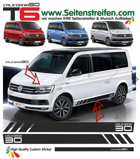 Vw T6 Seitenstreifen Aufkleber by Vw Bus T6 California 30 Edition Seitenstreifen Aufkleber