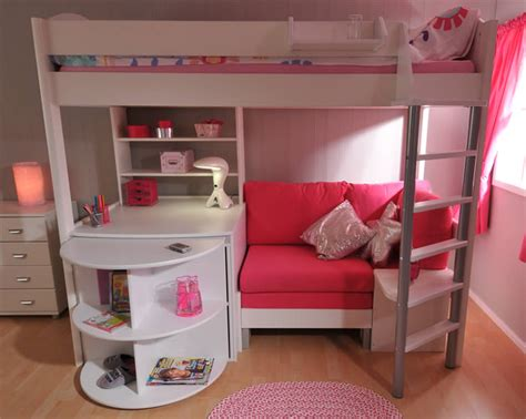 Stompa High Sleeper With Desk And Futon by Stompa Casa 4 High Sleeper Bed