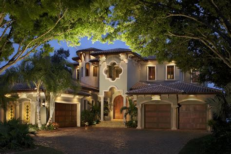 mediterranean style home outside