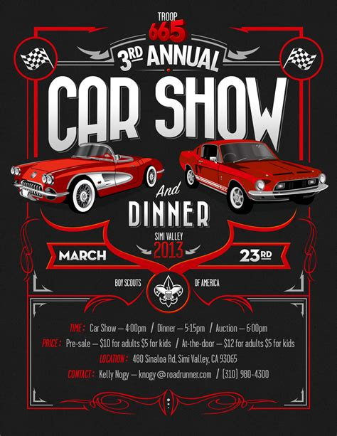 Free Show Templates Automotive Flyers Sles Google Search Auto Shop