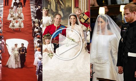 Royal Wedding Comparison by Meghan Markle Princess Diana And Kate Middleton S