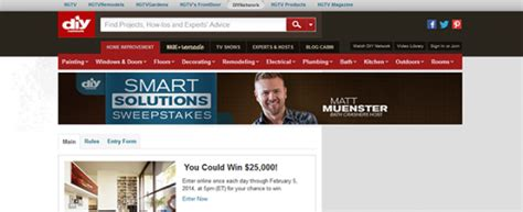 Sweepstakes Diy - diynetwork com smartsolutions diy network s smart solutions sweepstakes