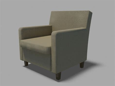ikea small armchair ikea armchair karlstad 3d model