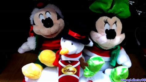 mickey and minnie dancing singing plush toys christmas