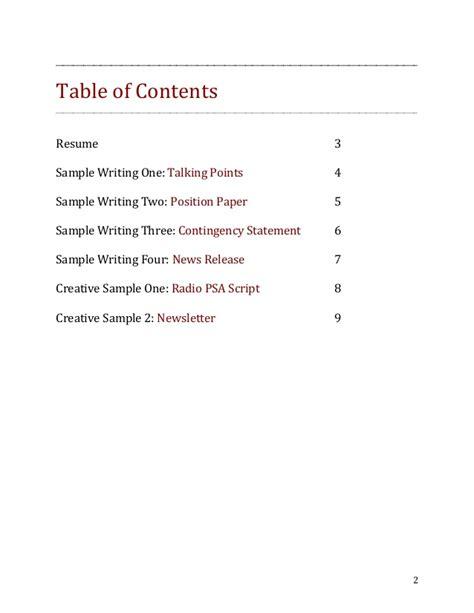 pr writing portfolio