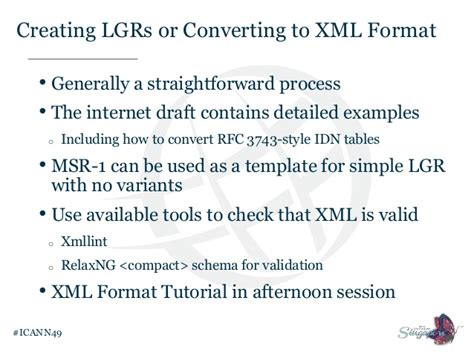 xmllint tutorial idn variant tld program update from icann 49