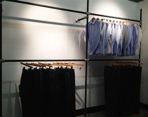Diy Garment Rack by Diy Garment Rack For Men S Clothing Showroom