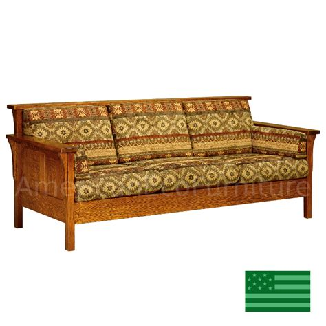 Handmade Furniture Usa - amish honeydale panel sofa solid wood made in usa