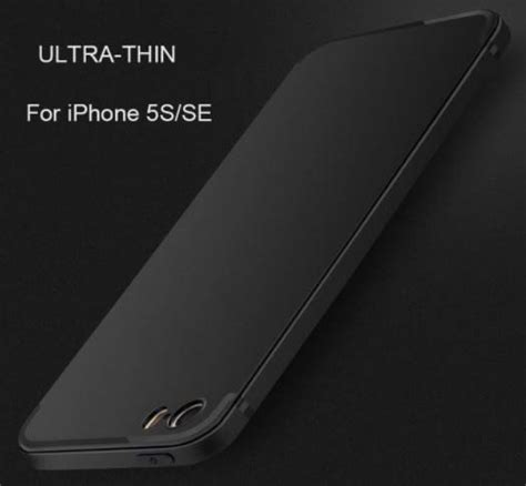 Softcase Silicone Iphone 5 5s Se by Topk Silicone For Iphone 5 5s Se Black
